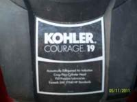 Nice mower, runs like new. 19 H.P. Kohler engine. 42