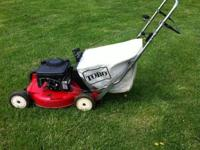 This mower operates nicely. It is a mulching mower with