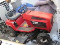 Toro grass tractor with bagger 11hp. 38in. deck 5speed