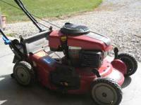 Like new Toro Personal Pace Lawnmower for sale.