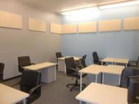Private office with ten desks, door with password,