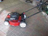 This is a brand new 22 inch Toro push mower. It has a