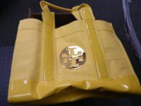 Authentic Tory Burch Large Yellow Bag Handbag Purse.