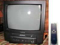 Toshiba 13 in. TV/VCR Combo and Remote, $50 Model #