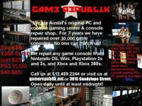 repair xbox 360 xbox ps3 playstation ps2 wii nintendo