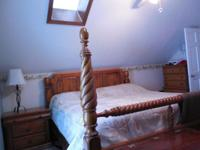 Collection includes bed structure, headboard and