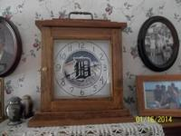 This is a totally handmade Detroit Tigers Clock