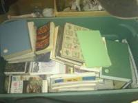 I have a green tote full of books. Mostly older recipe