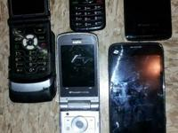 I have 5 cell phones for sale!  1) LG by boost, it