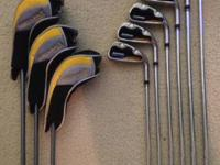 Set of Tour Edge Geomax Hybrid/Irons. Clubs include 3,