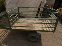 nice little trailer for riding lawn mower or quad call