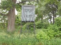 Two year old tower hunting stand for sale. 4'x4'x5'x