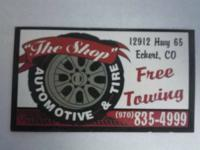 """THE SHOP"" Automotive & Tires (ASE Certified). 12912"