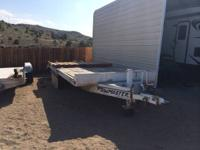22' deckover equipment trailer 17' flat deck with 5'