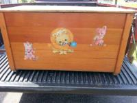 WOODEN TOY BOX WITH REMOVABLE LID. YOUR CHOICE $30.00