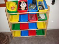 Type:Kids RoomsType:FurnitureWood with plastic bins ,