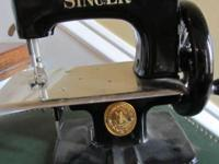 Vintage Toy Singer Sewing Machine with case. Excellent