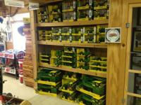 We have several different toy tractors including John
