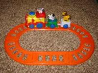 Toy train with spinning animals - battery operated! In