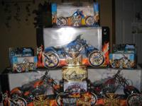 Have 20 different collectable motorcycles and ca couple