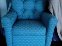 Beautiful, teal, kids recliner. New and unused. Light