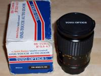 TOYO 28mm - 75mm Zoom lens - looks optically clean -