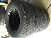 I have 255/70/r16 Toyo Open Country A/T tires that I'm