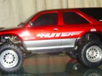 KYOSHO 4 RUNNER ! Candy apple RED. PROFESSIONALLY