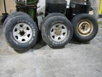 For Sale is a set of 5 steel rims that came off of a