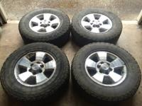 "17"" wheels and tires off a 2003 Toyota 4runner. The"