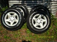 Upgrade to alloys. Will fit GM as well. This set of 6