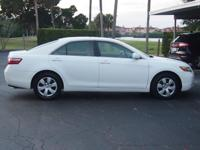 BEATIFUL WHITE CAMRY WITH CD PLAYER,AUTO,CLOTH SEATS