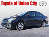 You can't go wrong with this black 2012 Toyota Corolla