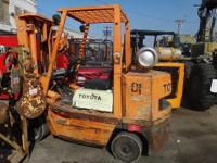 TOYOTA FGC-35 FORKLIFT S/N: FGC45-10046 7,000 LBS CAP.