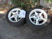 Tires and rims from a 2002 MR2 spyder, tires are in