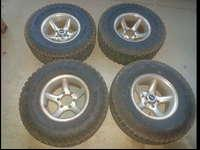I have a set of 4 Toyota Tacoma wheels. 15x8 wheels