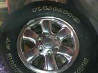 16'' Tacoma rims and kumho venture AT 245/75/16. Tires