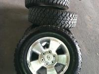 Selling set of Toyota Tacoma 4 Tires and Rims. Rims are