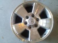 I have 4 OEM 17 X 7.5 wheels off a 2010 Tacoma for