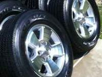 Set of 4 Toyota TRD Factory Wheels and Tires. Wheels: