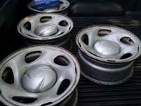 I have 4 steel wheels from a 2002 Tundra 4x4 for sale.