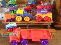 selling all kinds of toys, games, etc soft TONKA cars,