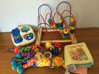 Fabulous toys for baby through 18 mos, all vey gently