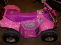 Princess Four wheeler 12volt battery barley used