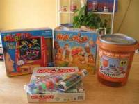 We have several games and toys for sale. They are as