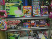 We received a large amount of toys and games. These are