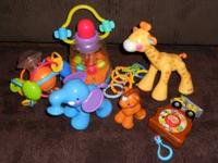 fisher price amazing animals giraffe, elephant, and