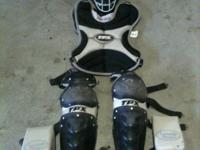 Here I have my son's TPX Omaha catchers gear. It's in