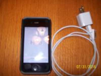 Very good iphone4 with Tracfone. Triple minutes. Ex.