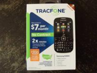 New!! Never even taken out of box. Tracfone with